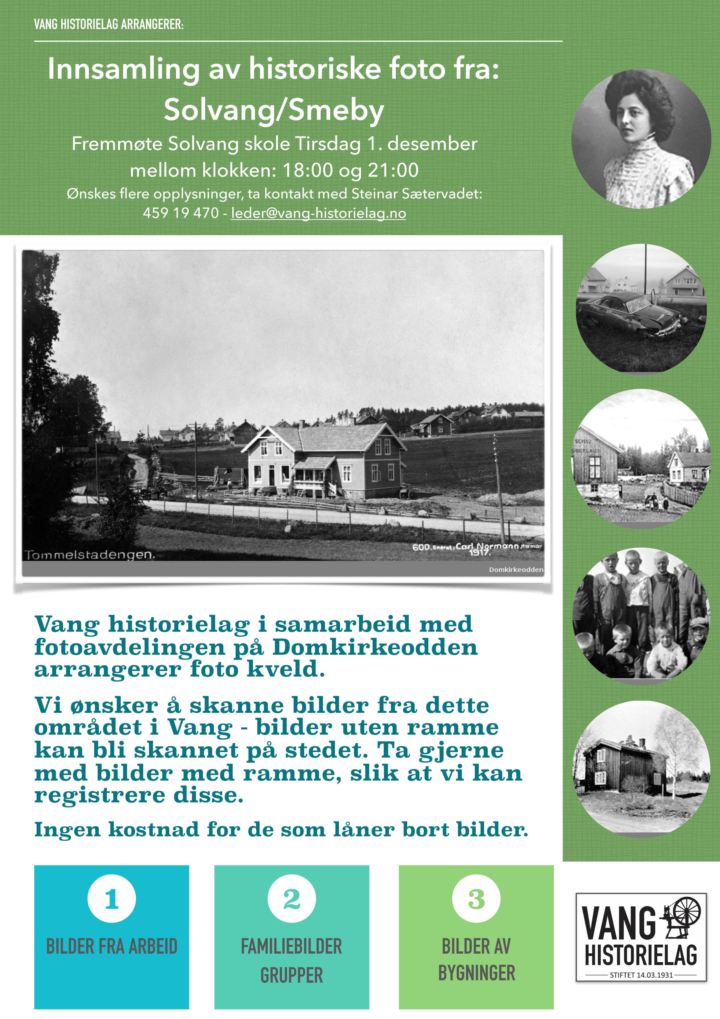 Innsamling av historiske foto fra Solvang/Smeby