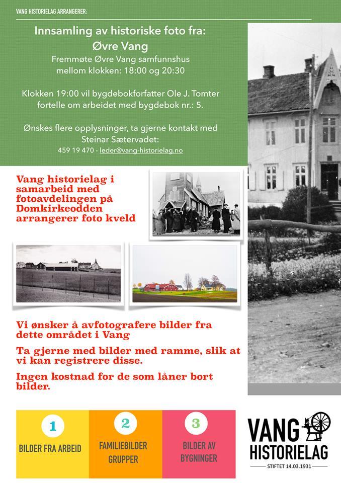 Fotoinnsamling Øvre Vang samfunnshus 18. februar