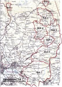 kart med områder til vangsbøkene