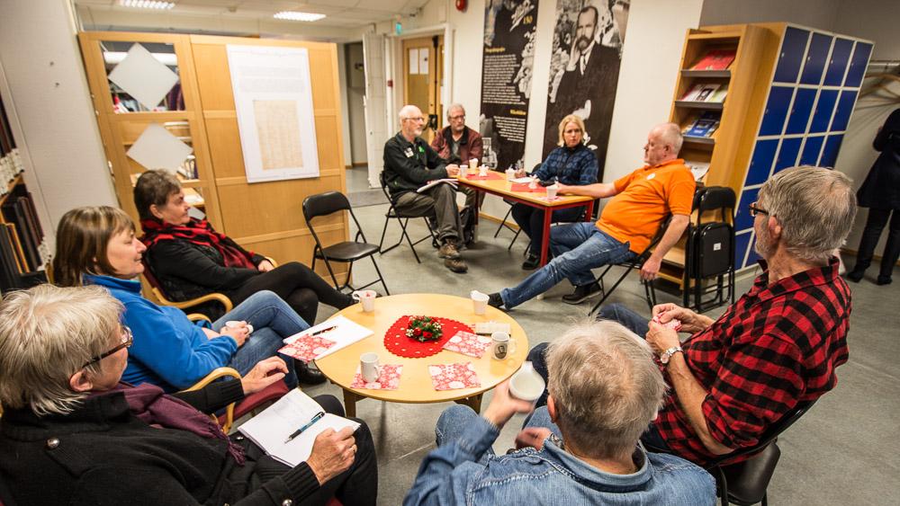 Møte en slektsgransker på statsarkivet i Hamar